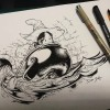 The Cauldron (traditional inking, Pepper&C...