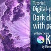 Dark matter cloud particle effect with Krita