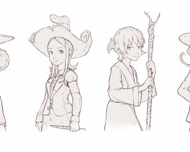 4 witches lineart