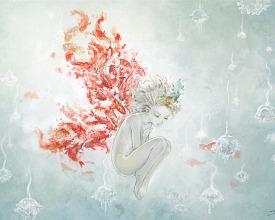 Koi fishes angel