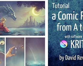 Full and long video tutorial: a Comic page from A to Z with Krita