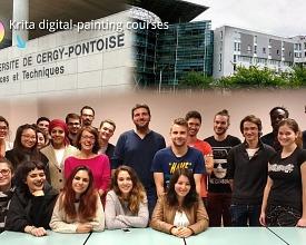 Krita digital-painting courses at University Cergy-Pontoise