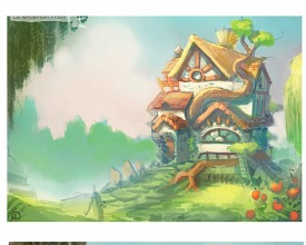 Step by step: a background painting