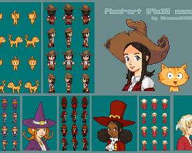 Pepper&Carrot Fan-pixel-art asset by DiamondDMGirl