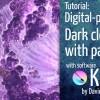 Dark matter cloud particle effect with Krita