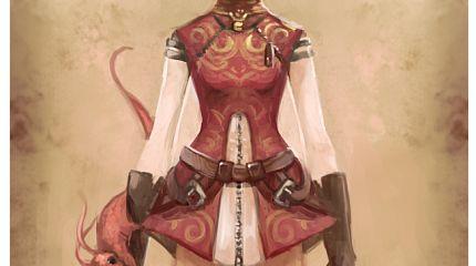 little steampunkish dragon girl
