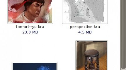 Krita kra file thumbnailer for Gnome 2