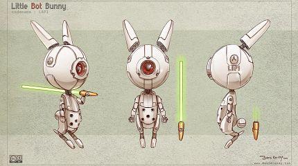 Free 3D model-sheet : Little Bot Bunny