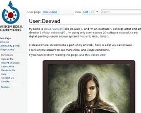 Contribution: artworks on Wikimedia