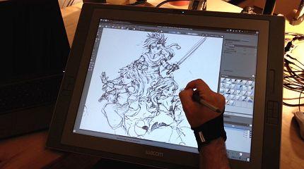 Krita Sketch on Wacom Cintiq21UX