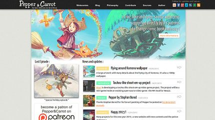 Pepper&Carrot got its own website
