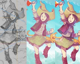 Video timelapse and Krita tips: «Flying around Komona»