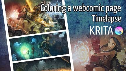 video timelapse «Coloring a comic page»