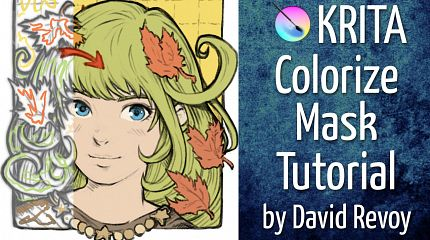 "Tutorial: Coloring with ""Colorize-mask"" in Krita"