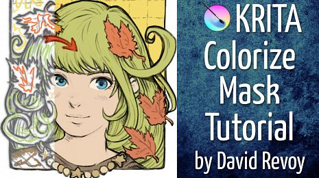 """Tutorial: Coloring with """"Colorize-mask"""" in Krita"""