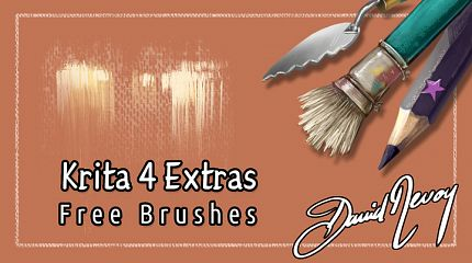 Krita 4 Extras brush presets pack