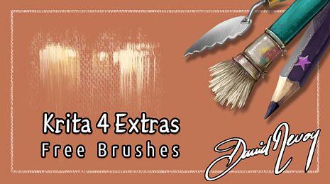 Krita 4 Extras brush presets pack