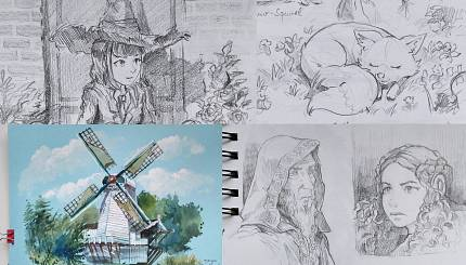 Sketchbook during Krita Sprint 2019