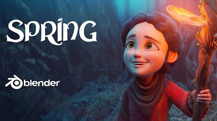 Spring open-movie: character design and concept-art