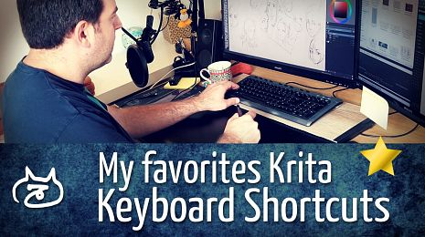 My favorite Krita keyboard shortcuts
