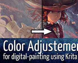 Color Adjustements for digital-painting using Krita