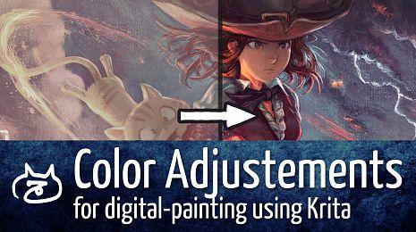 Color Adjustements for digital-painting using Krita