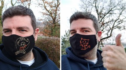 Embroidered masks by Zuzanna