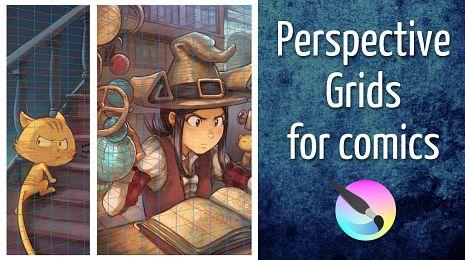 Perspective grids for comics in Krita