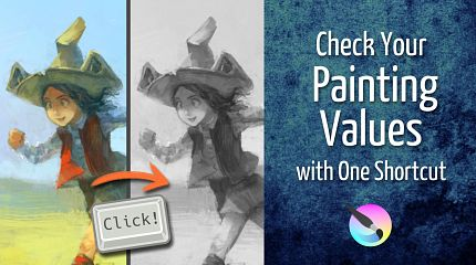 Check Your Painting Values with One Krita Shortcut