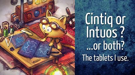 Cintiq or Intuos? ...or both? The tablets I use.