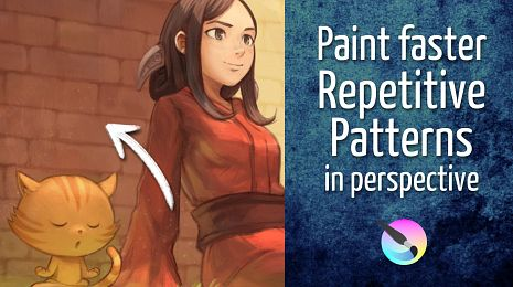 Paint faster repetitive patterns in perspective, step by step.