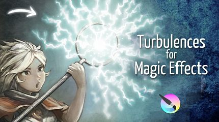 Turbulence for Magic Effects, Krita tutorial