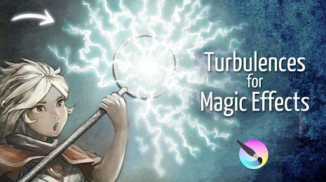 Turbulence for Magic Effects, Krita tutorial