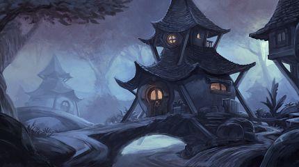 A Spooky Cute House - Krita Digital Painting Timelapse