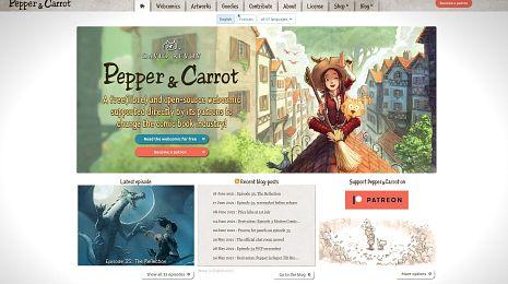 New website for Pepper&Carrot