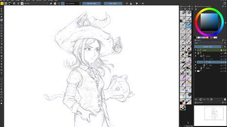Drawing on Krita 5 beta