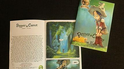 Pepper&carrot derivation: Booklets printed by Craig Bogun