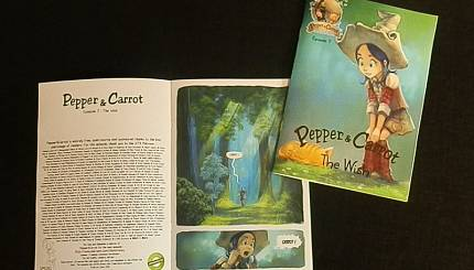 Pepper&carrot derivation: Booklets printed by Craig Bogun