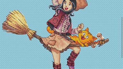 Pepper&carrot derivation: Cross stitch adaptation by Appolinaria