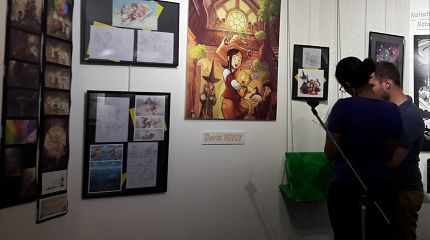 Fan-made exhibition at cultural center in Maisons-Alfort, France