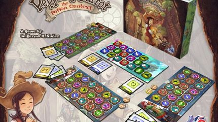 Pepper&Carrot derivation: a Board Game by Loyalist Games