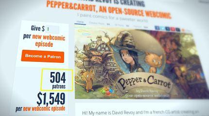 Pepper&Carrot reach 500 patrons!