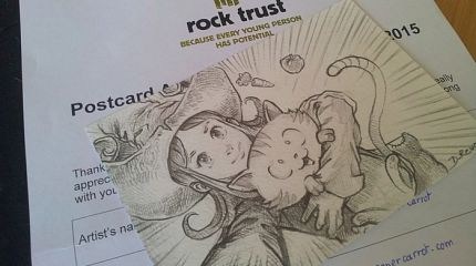 Postcard for homeless by Rock Trust