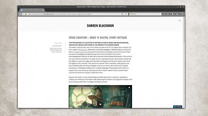 A review of my speedpainting process by Darren Blackman