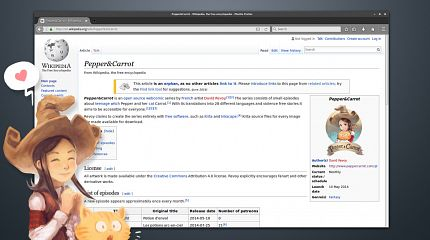 Pepper&Carrot has an official Wikipedia page!